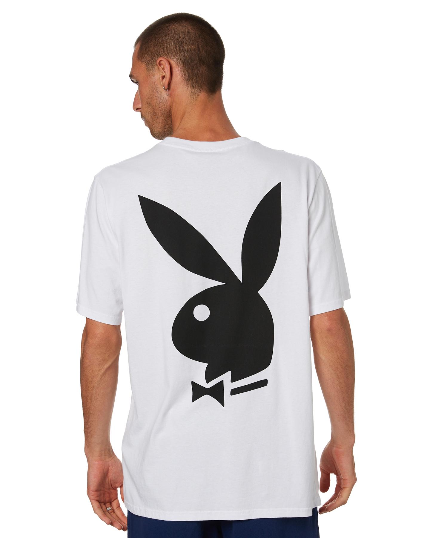 Playboy Playboy Logo Mens Ss Tee White
