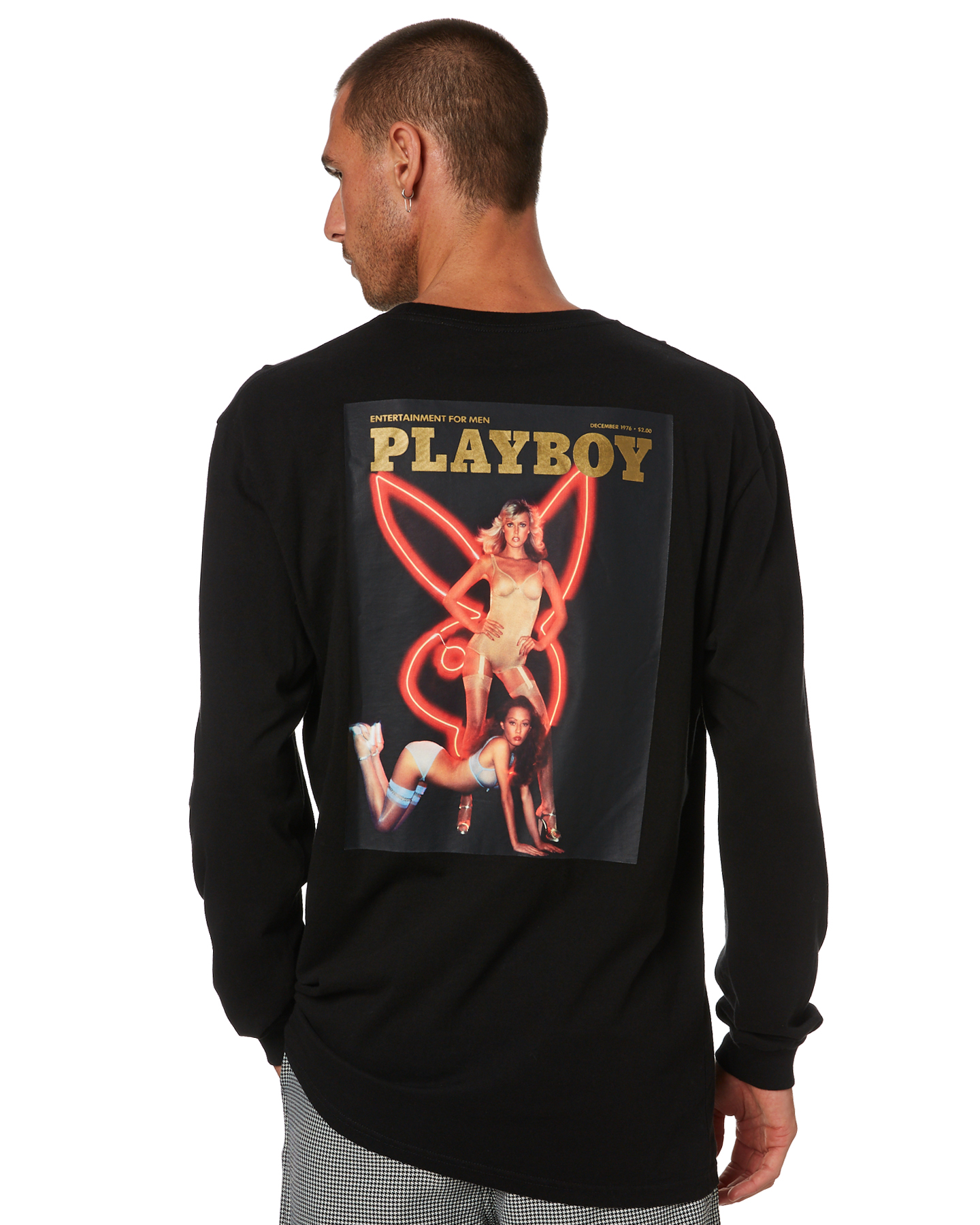 Playboy Dec 76' Mens Ls Tee Black