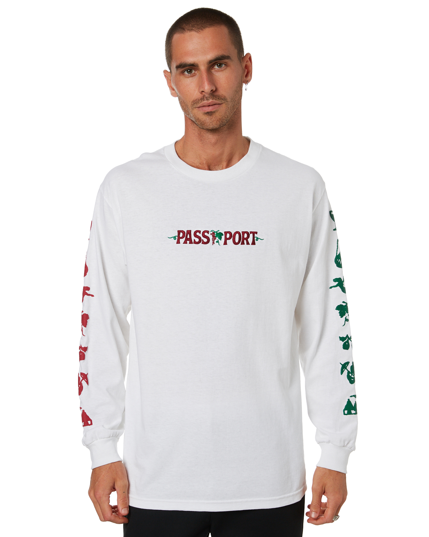 Pass Port Life Of Leisure Mens Ls Tee White