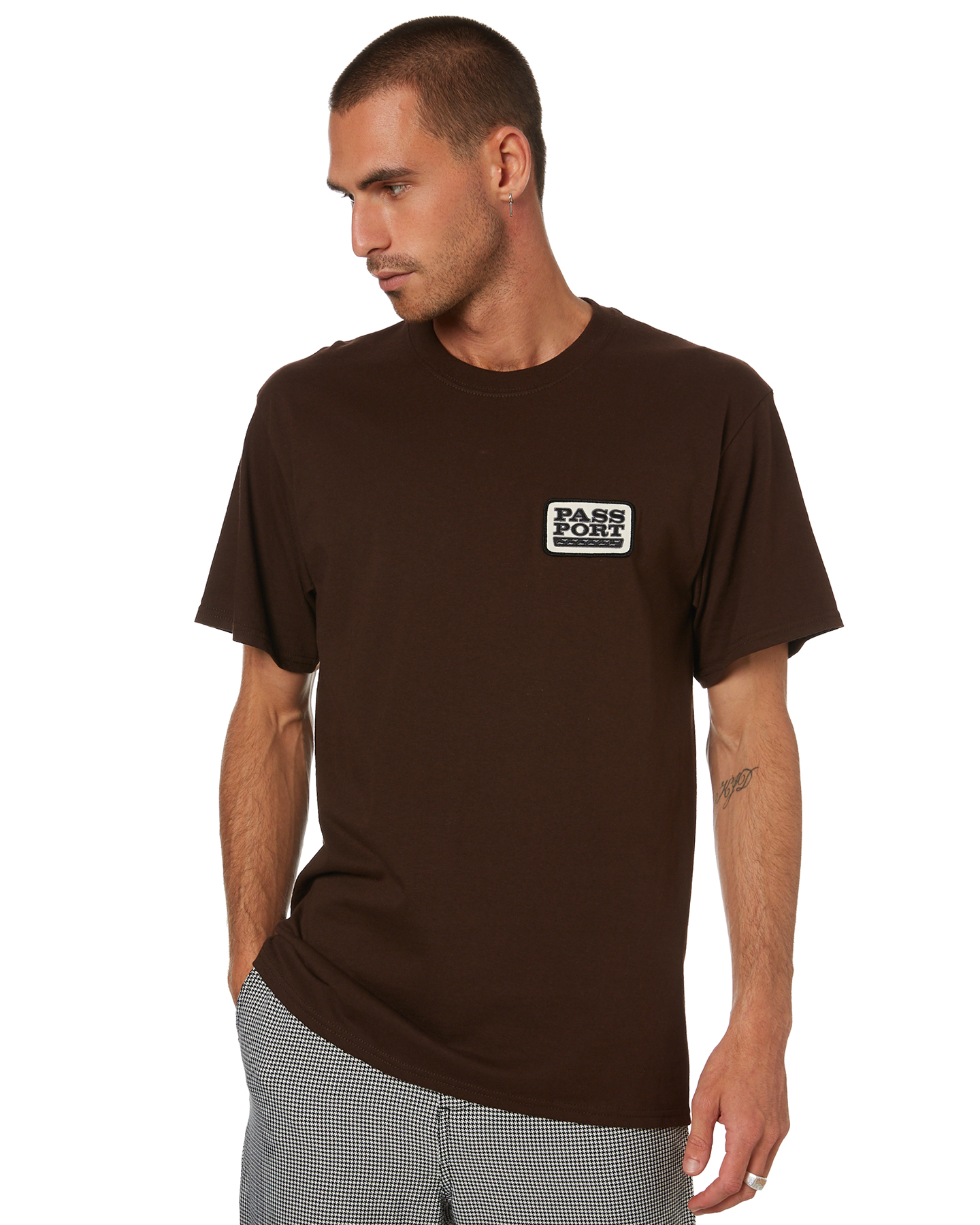 Pass Port Auto Patch Mens Tee Chocolate Chocolate
