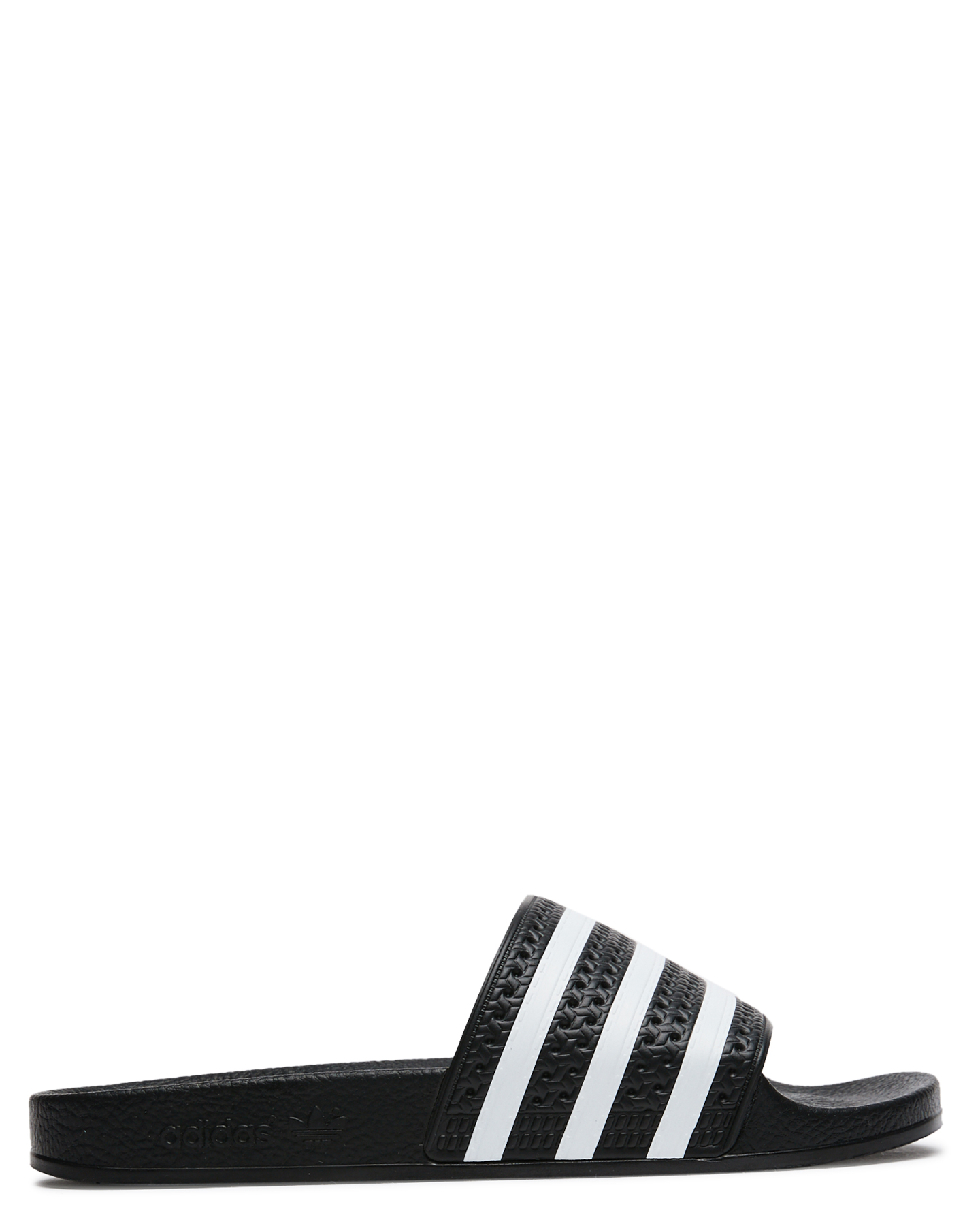 Adidas Womens Adilette Thong Black White Black