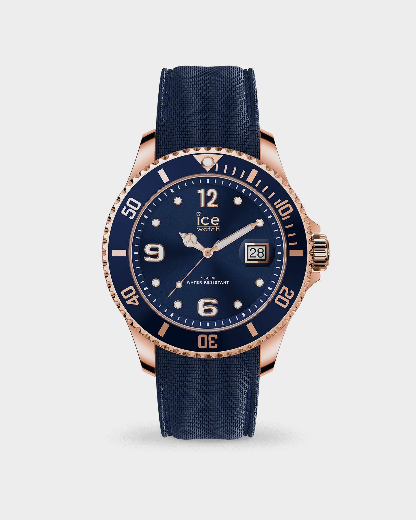 Ice Watch Ice Steel Watch - Large Blue Rose Gold