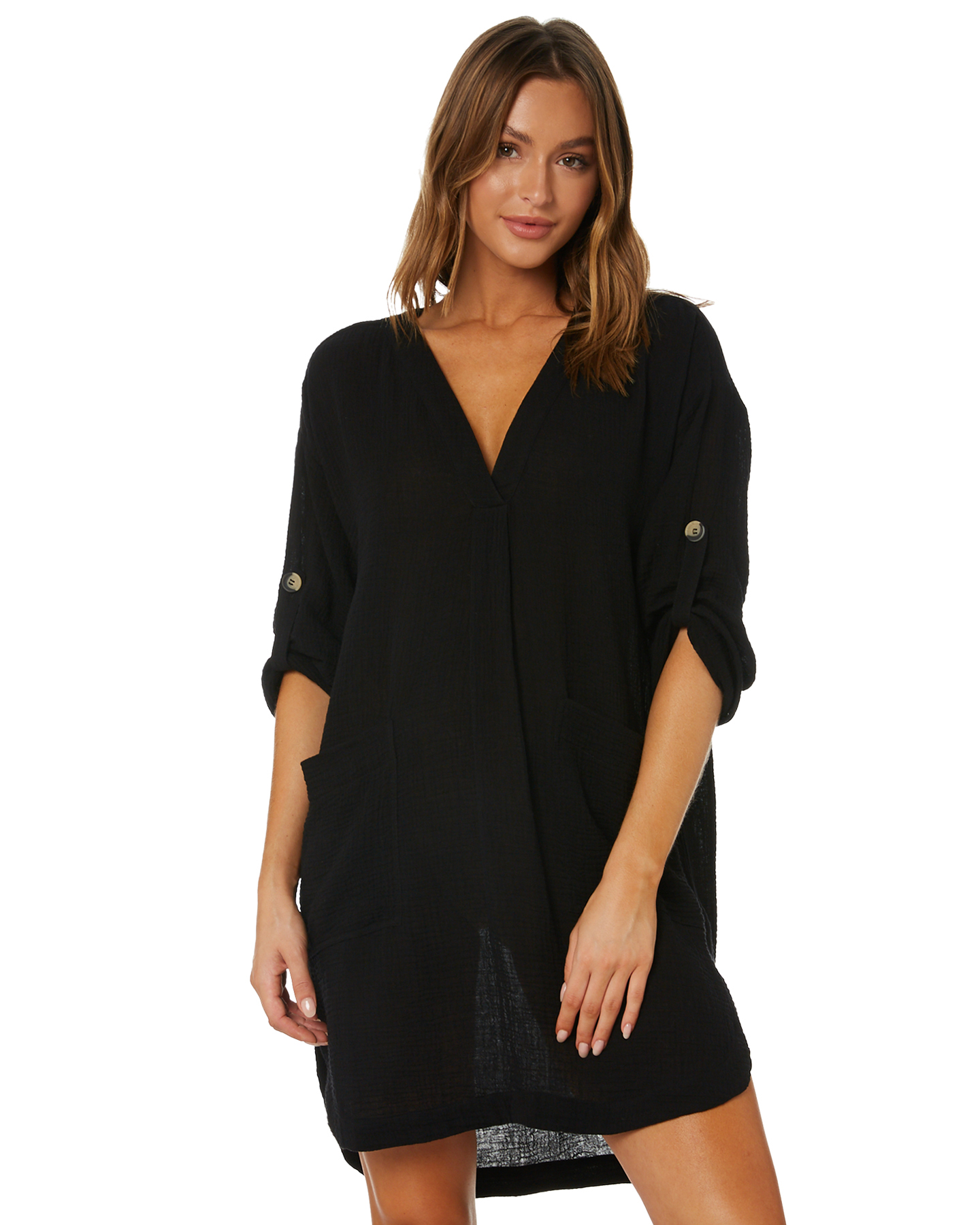Seafolly Essential Cover Up Black