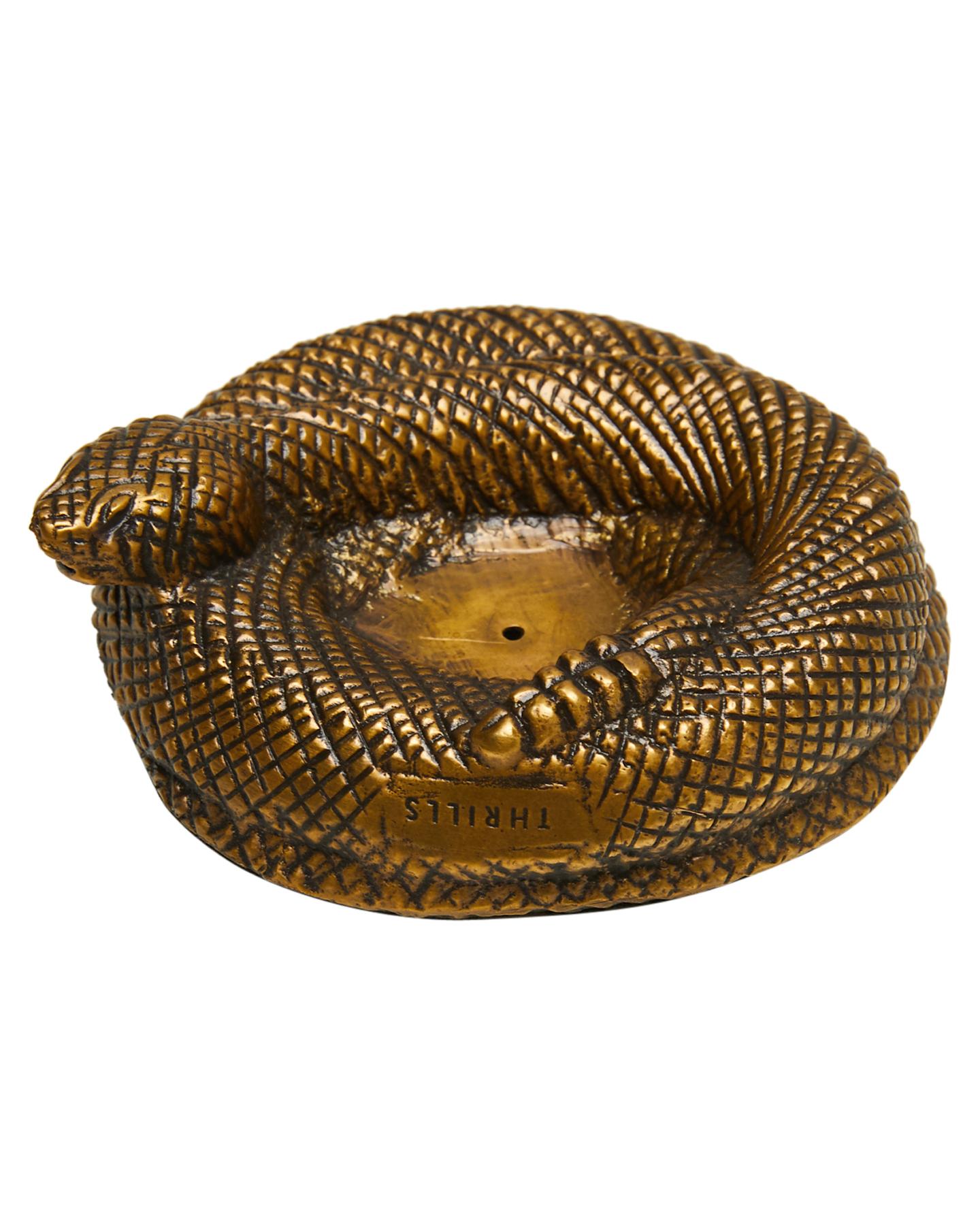 Thrills Rattlesnake Incense Holder Anti Brass Anti Brass