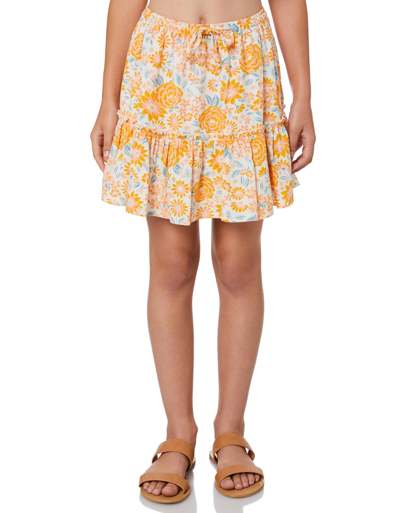 Eves Sister Girls Summer Fields Skirt - Teens Summer Fields Print