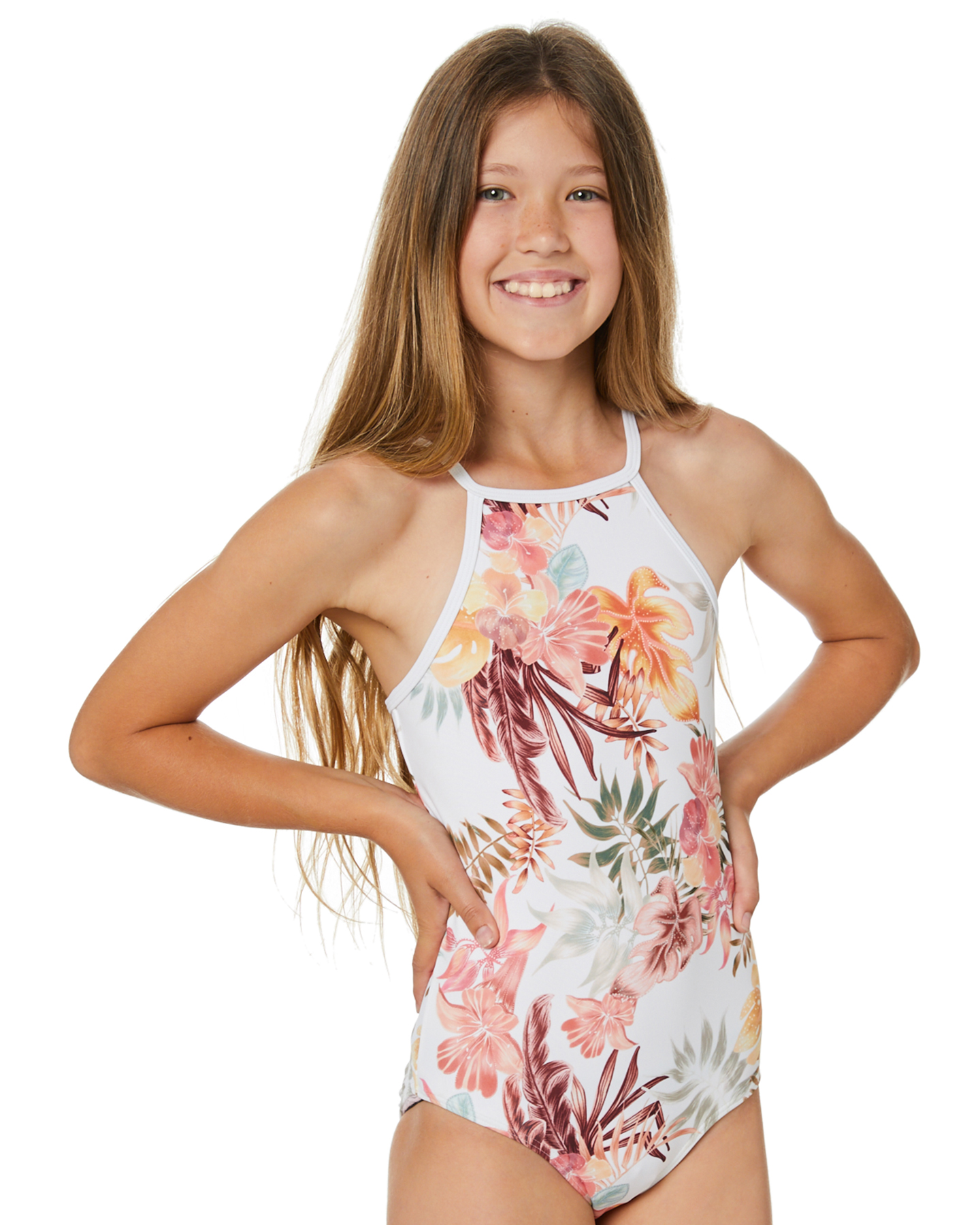 Rip Curl Girls Tallows One Piece - Teen White