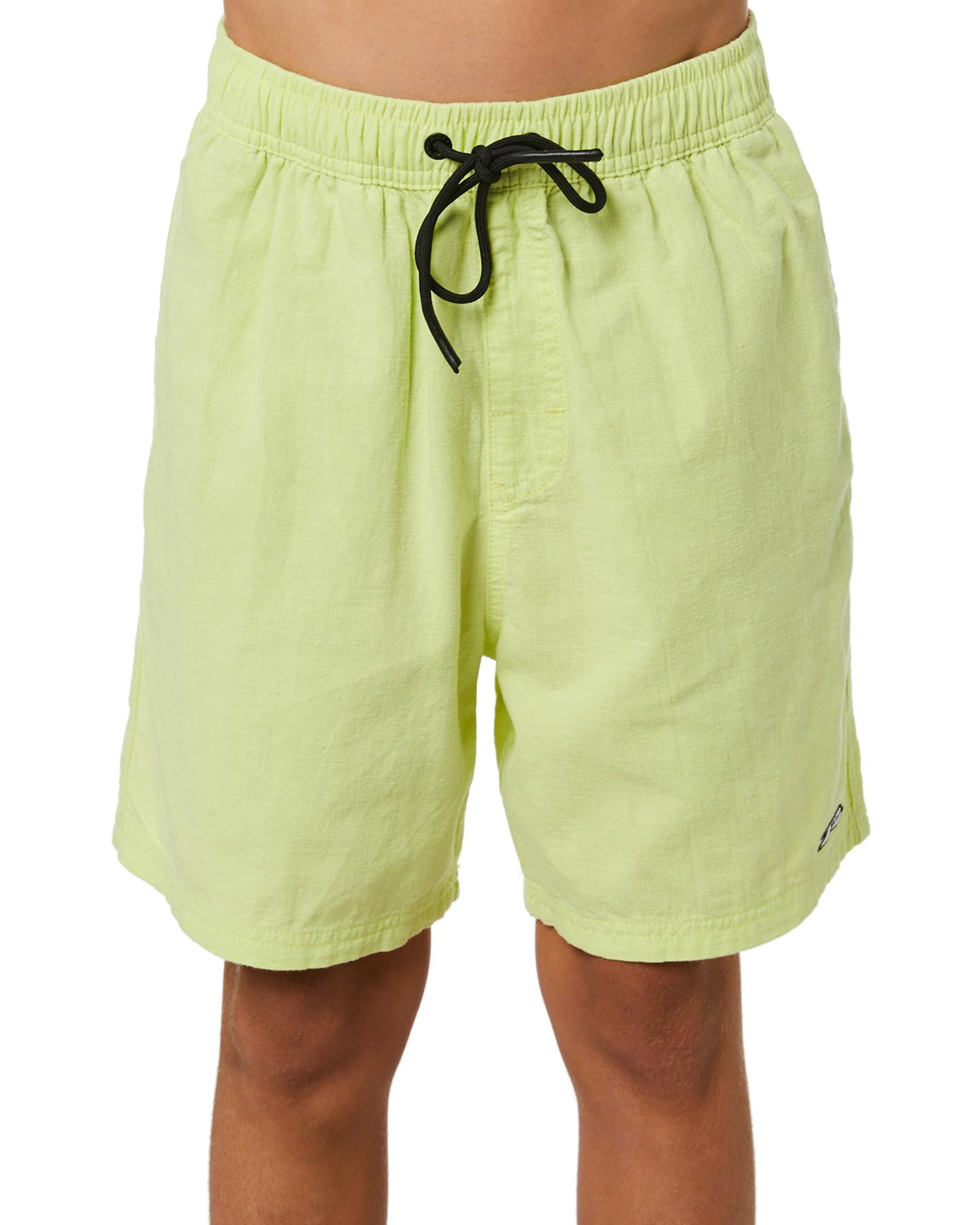 Rusty Boys Undertone Elastic Linen  Short - Teen Pale Banana Pale Banana