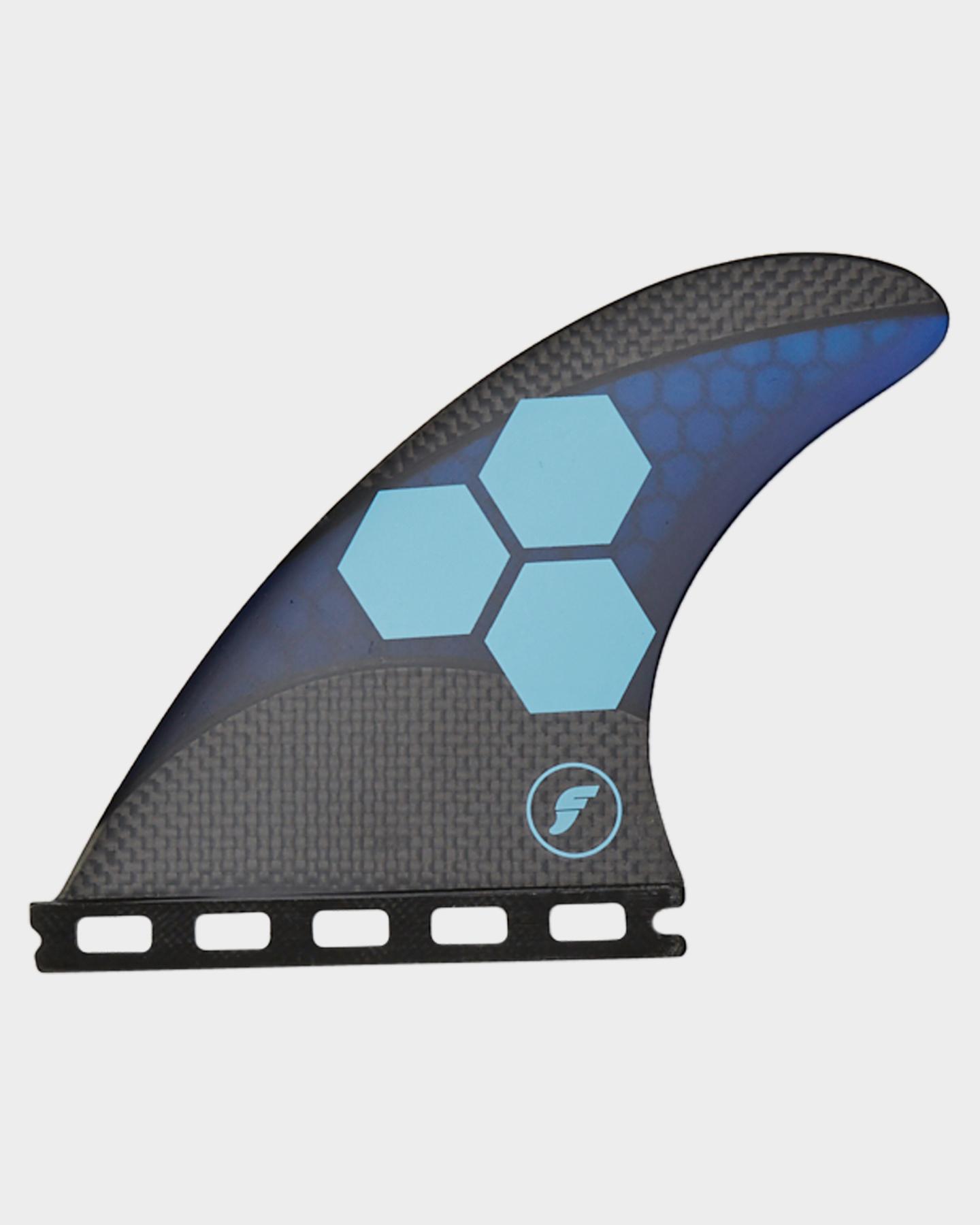 Future Fins Am1 Medium Techflex Thruster Fins Blue Cyan