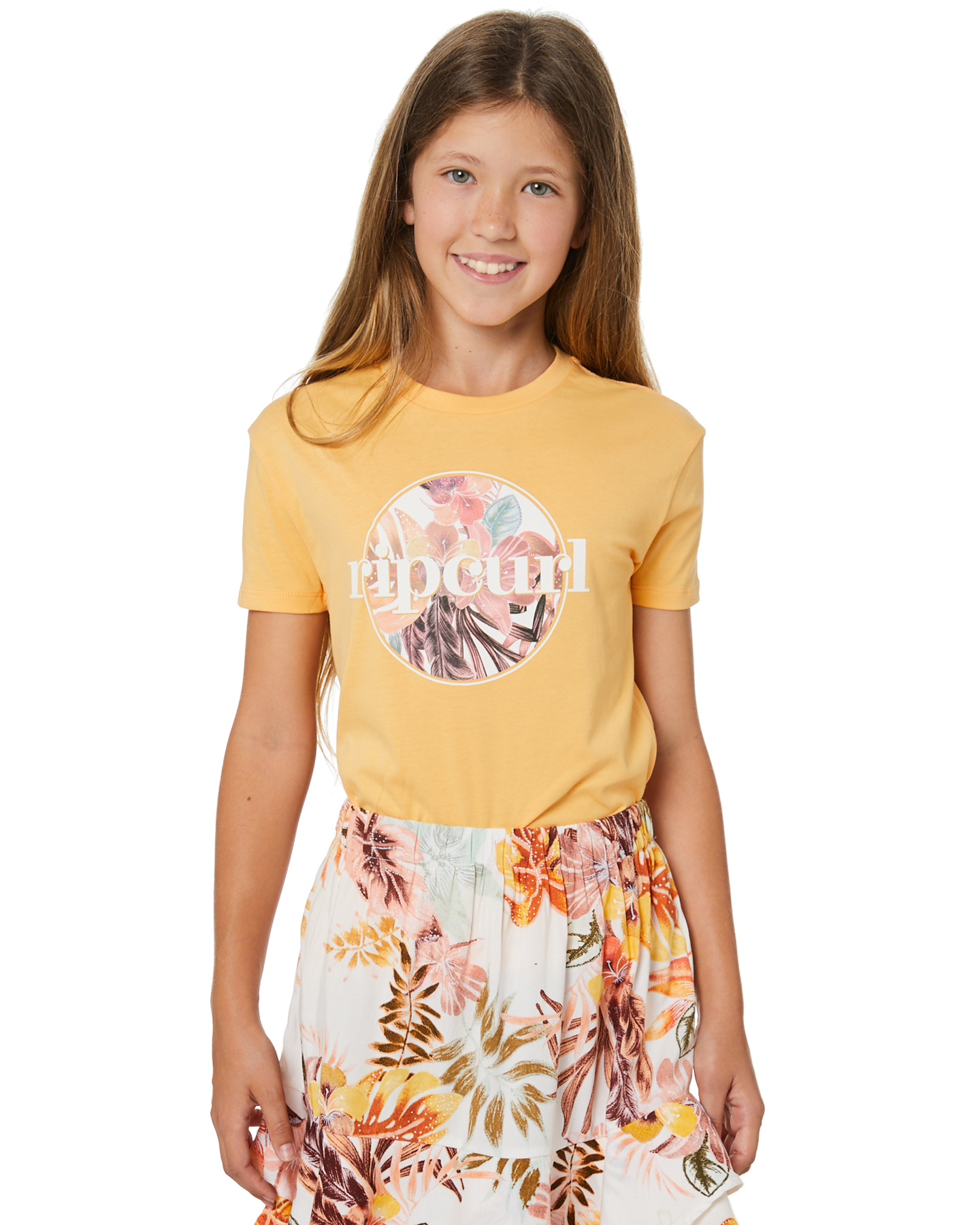 Rip Curl Girls Tallows Tee - Teen Orange