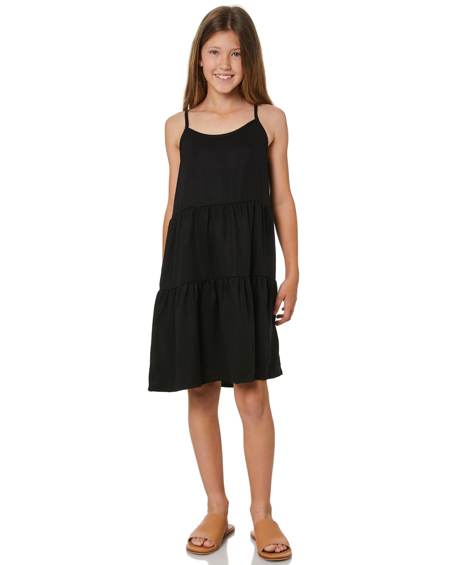 Eves Sister Girls Bondi Dress - Teen Black