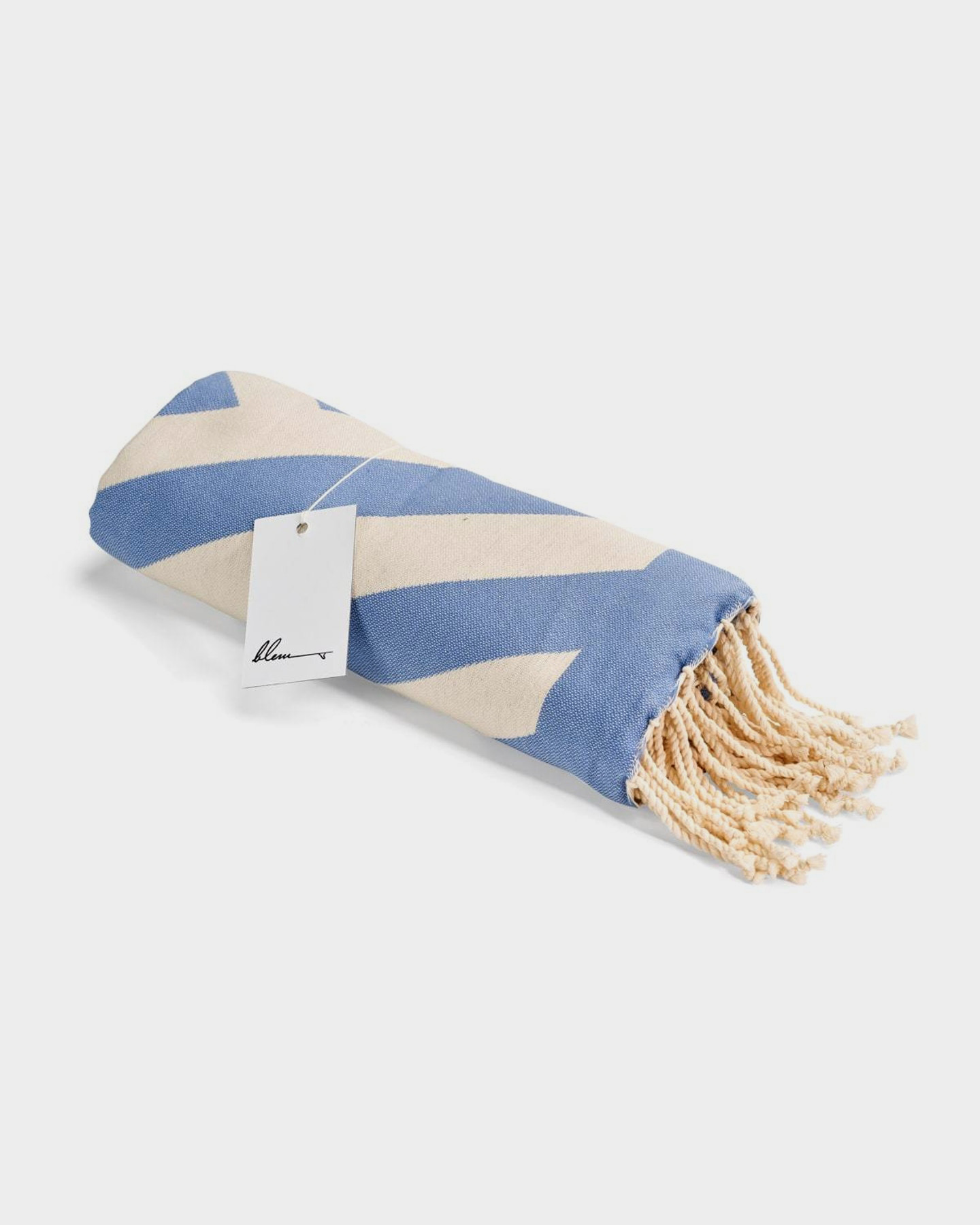 Blem Beach Accessories Zig Zag Blue Jackie Collection Towel Blue