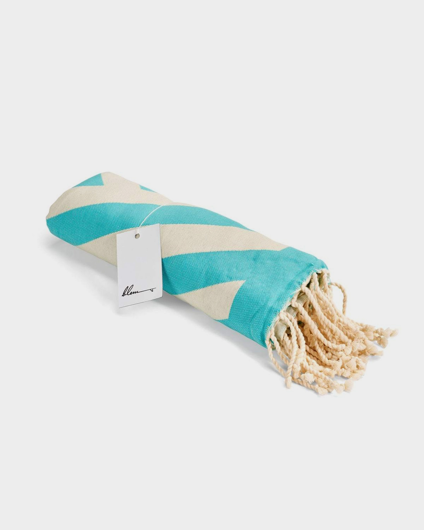 Blem Beach Accessories Zig Zag Turquoise Jackie Collection Towel Turquoise Turquoise
