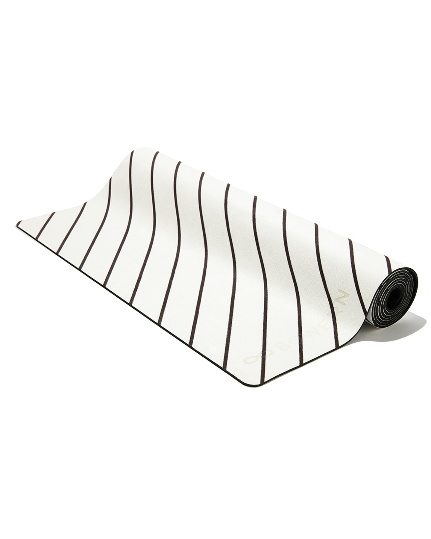 Bowern Fine Lines Yoga Mat Black White