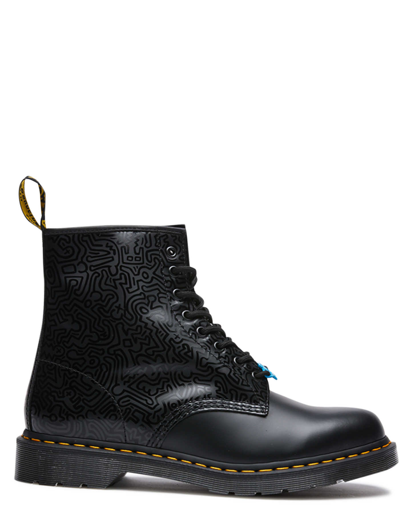 Dr. Martens Womens X Keith Haring 1460 Boot Black