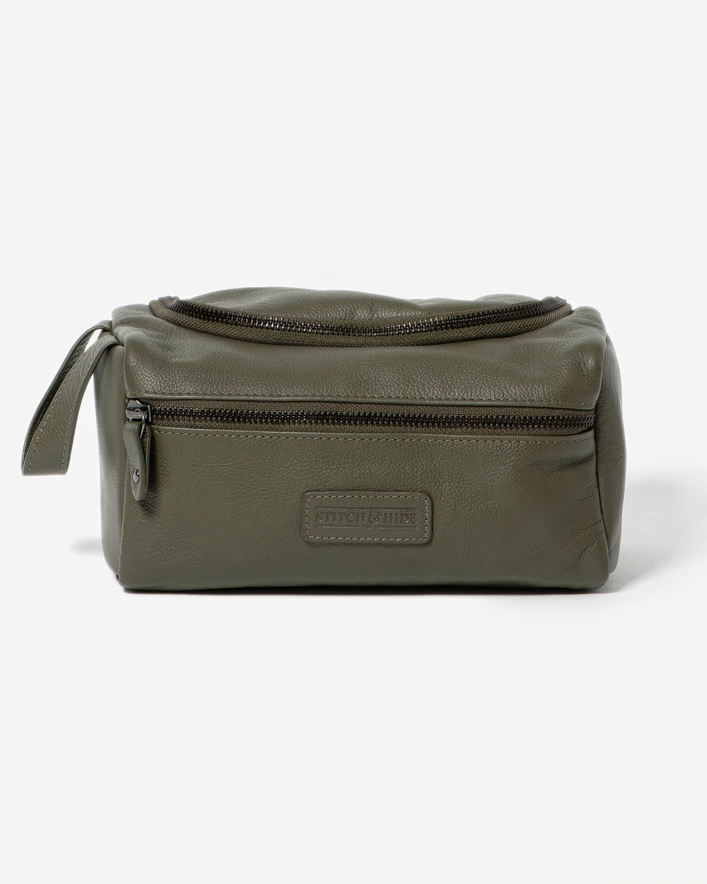 Stitch And Hide Jett Toiletry Bag Olive Olive