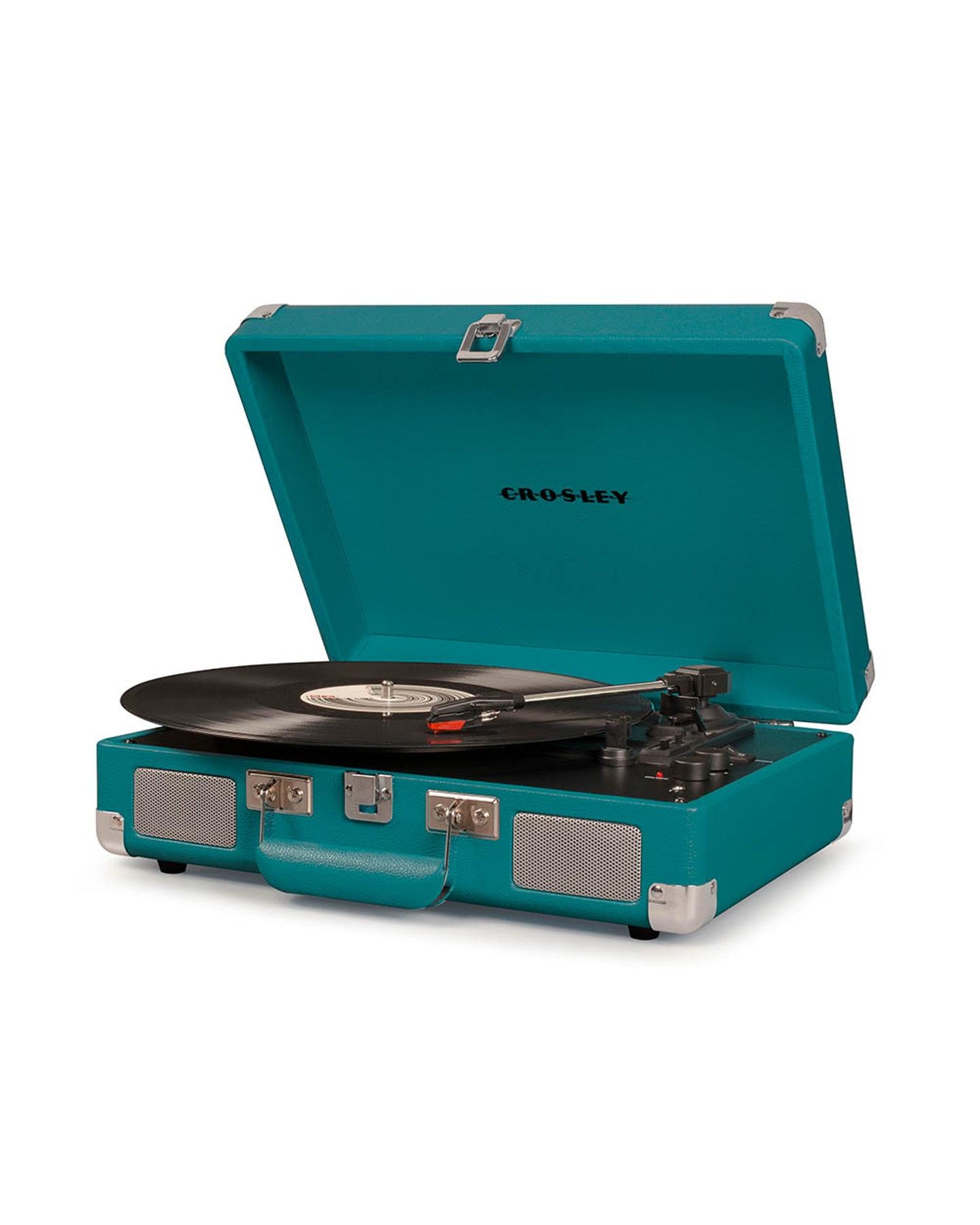 Crosley Crosley Cruiser Deluxe Portable Turntable Teal Teal
