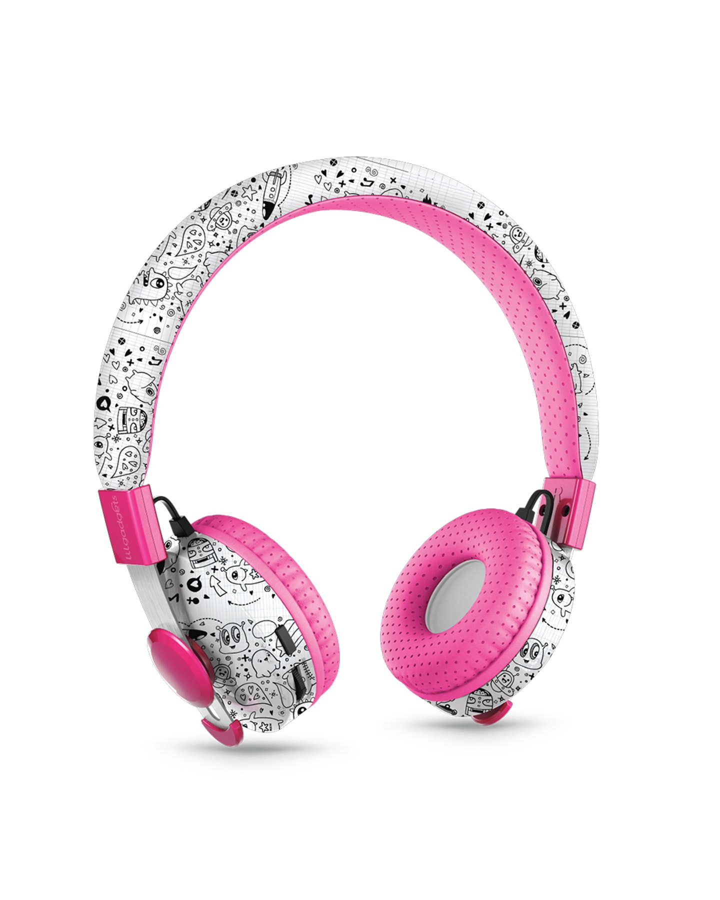 Lil Gadgets Untangled Pro Children'S Wireless Bluetooth Headphones Far Out Doodles Far Out Doodles