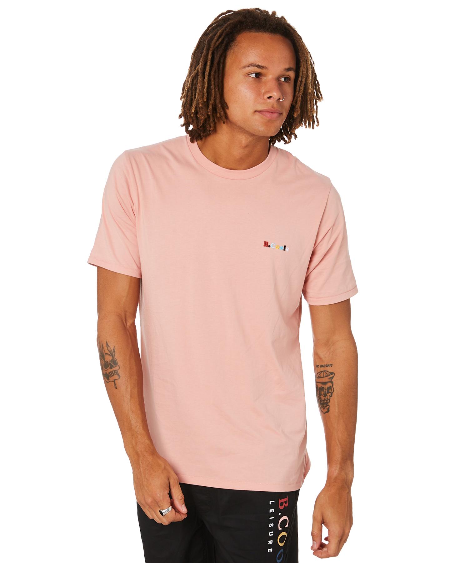 Barney Cools Retro Embro Mens Tee Dusty Pink