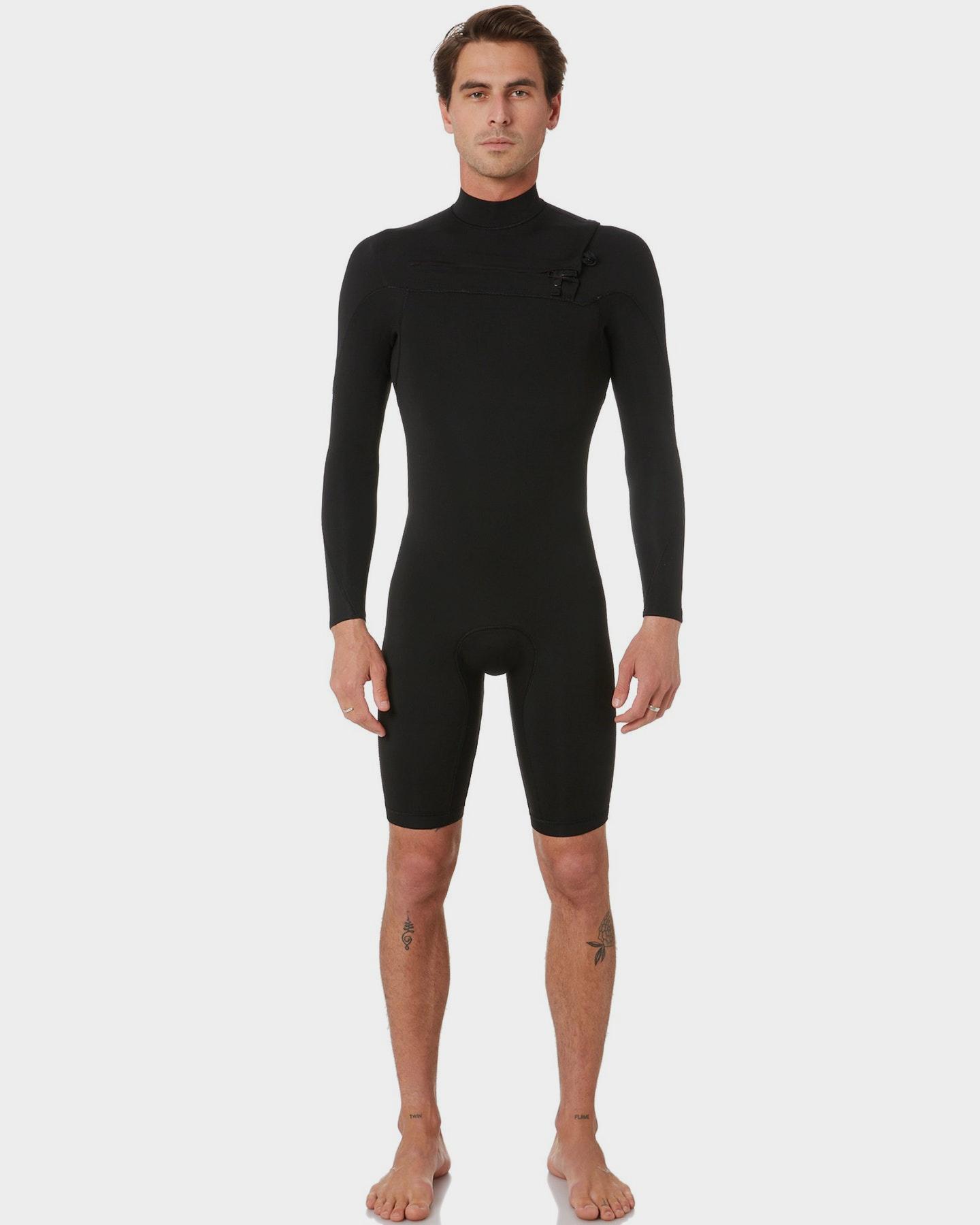 Project Blank Mens 2Mm High Performance L/S Springsuit Black