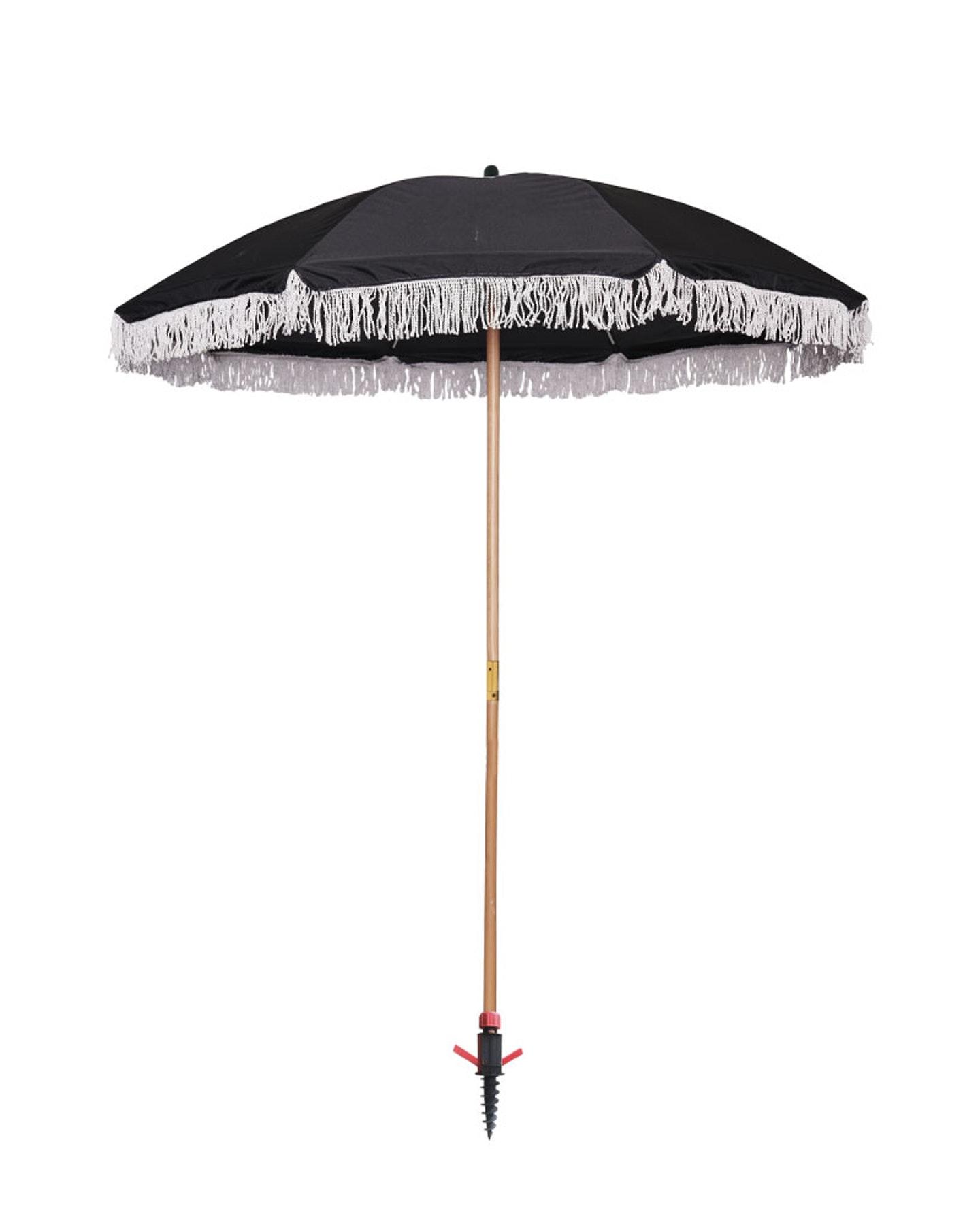Project Blank Spf50+ Eco Recycled Beach Umbrella Black