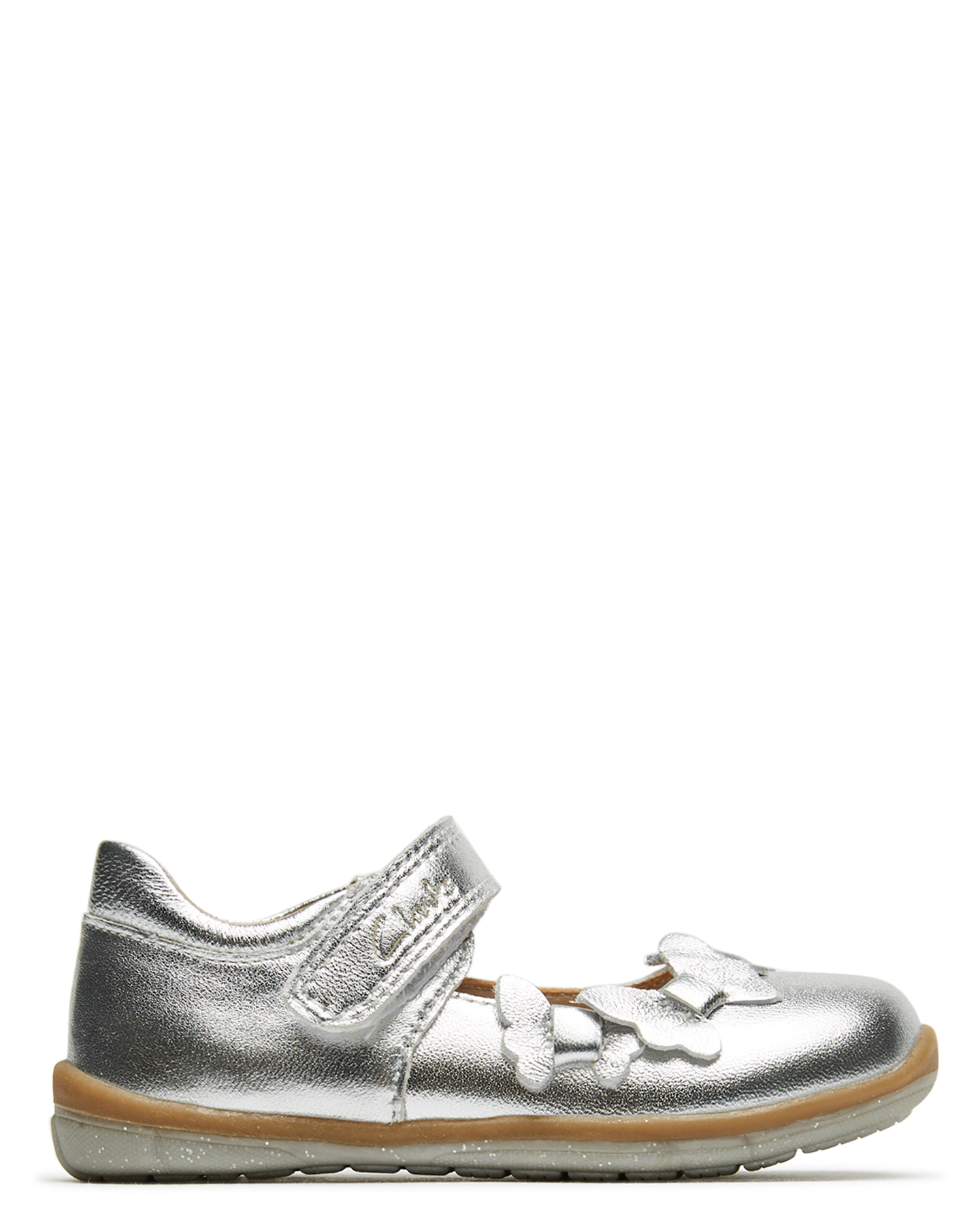 Clarks Girls Martha Shoe - Toddler -Uk- Silver E