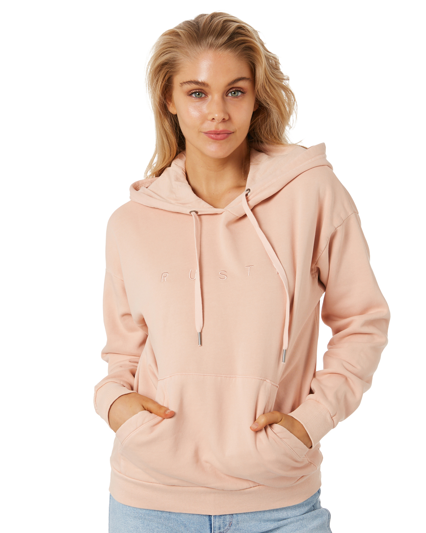 Rusty Rusty Essentials Ember Hooded Fleece Rose Cloud Rose Cloud