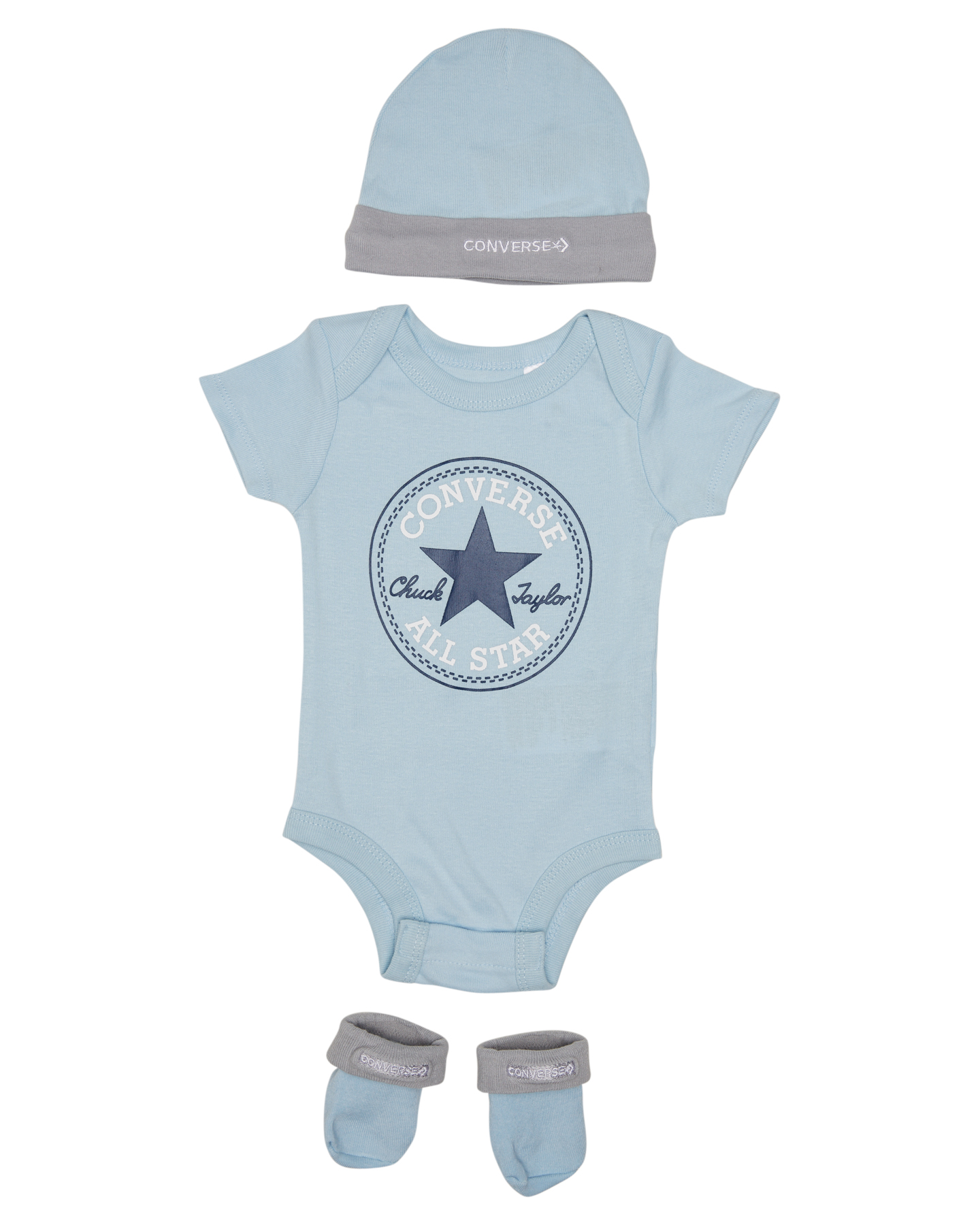Converse Classic Ctp Hat Bodysuit Bootie 3Pc Set - Baby Pacific Blue Coast