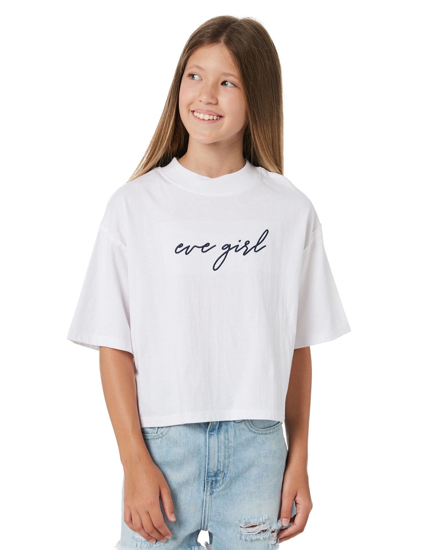 Eves Sister Girls Signature Tee - Teen White