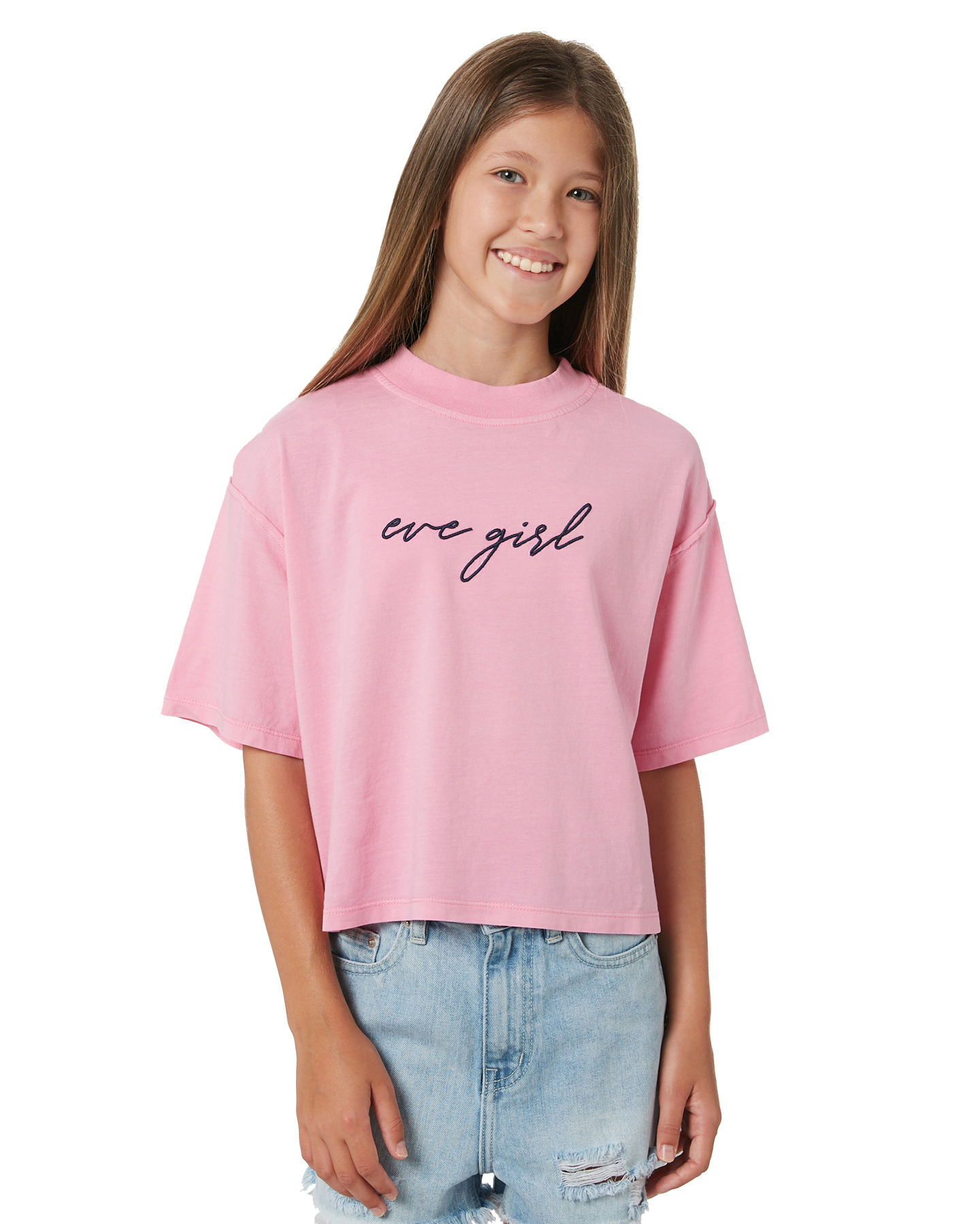 Eves Sister Girls Signature Tee - Teen Pink