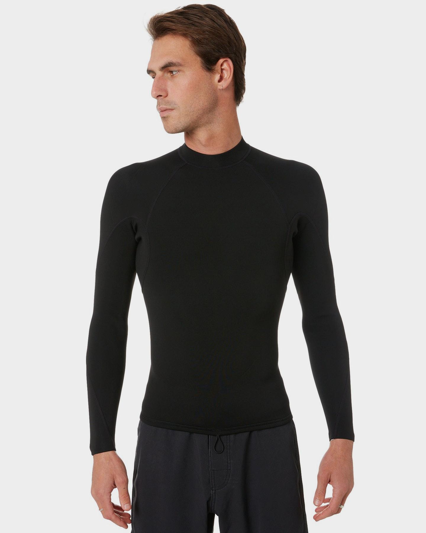 Project Blank Mens 2Mm High Performance Long Sleeve Vest Black