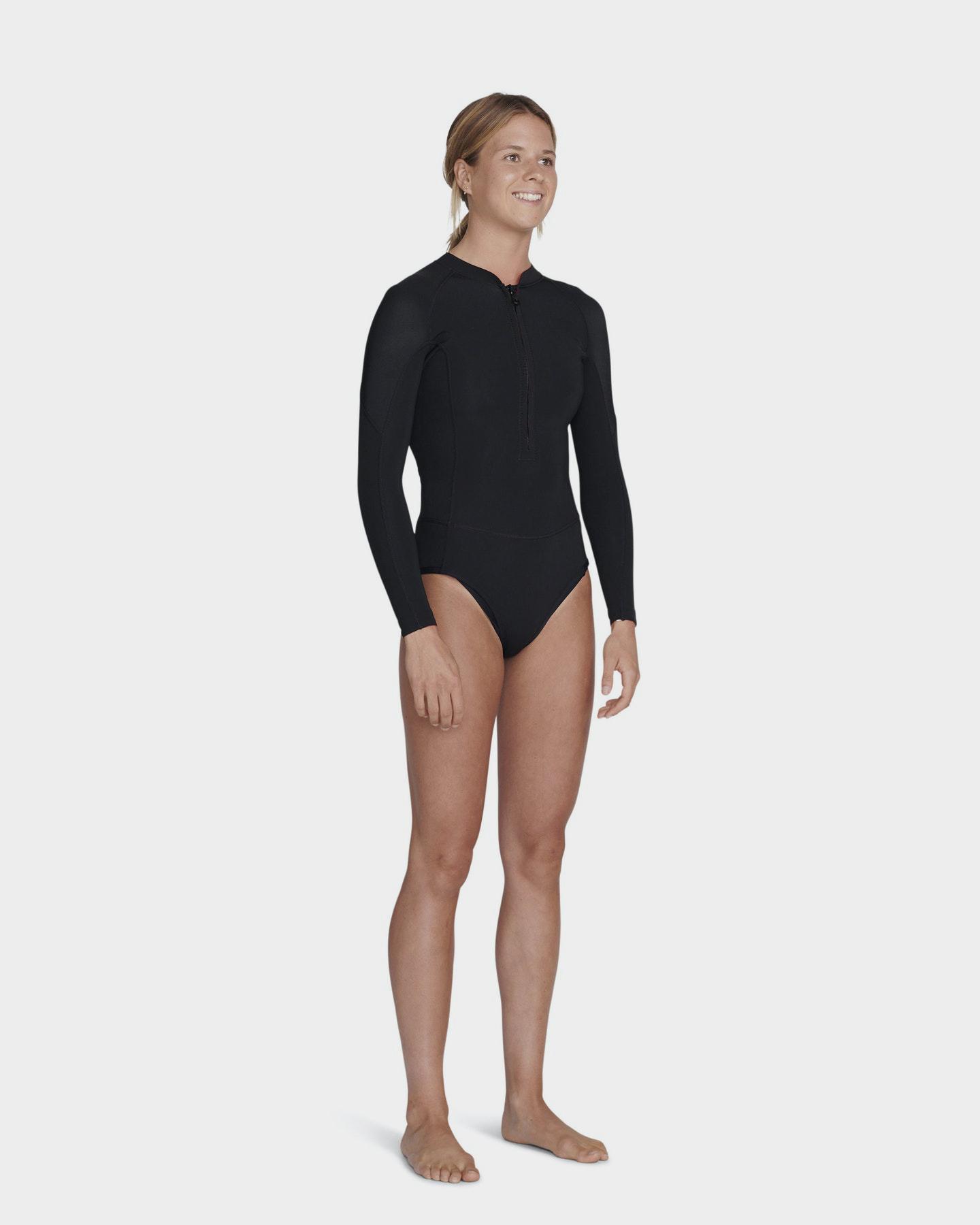 Project Blank Womens 2Mm High Performance Ls Springsuit Bikini Cut Black