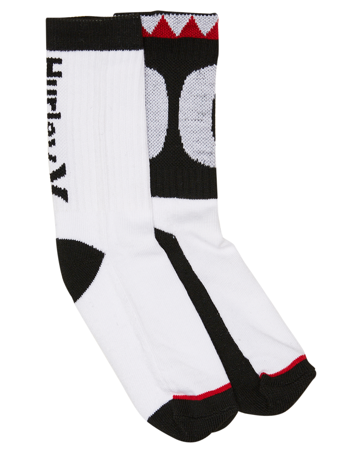 Hurley One And Only High Crew Sock 2Pk Black