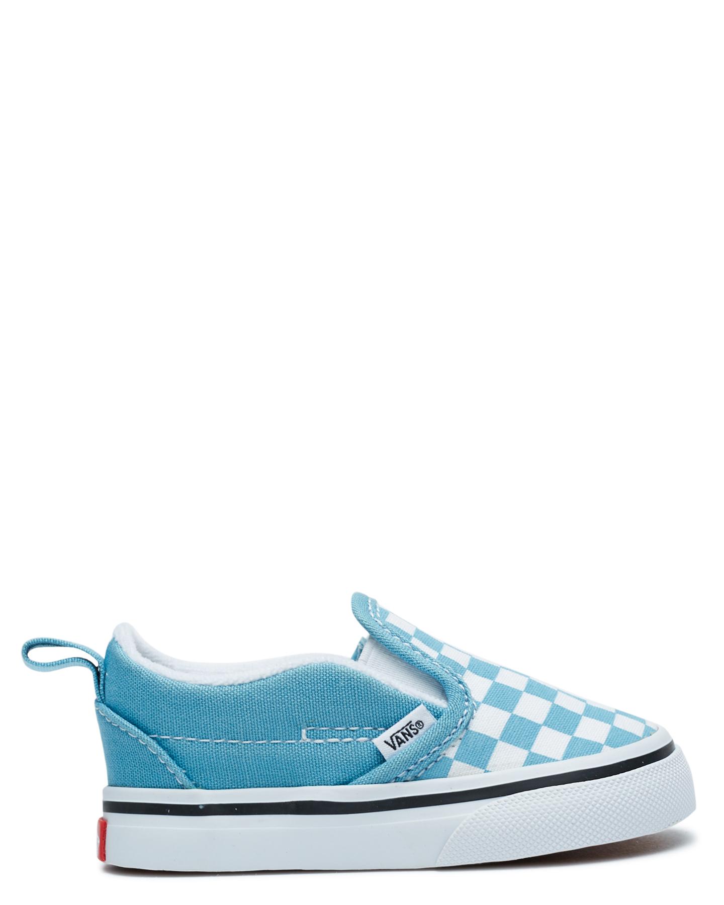 Vans Slip-On Velcro Shoe - Toddler Blue White