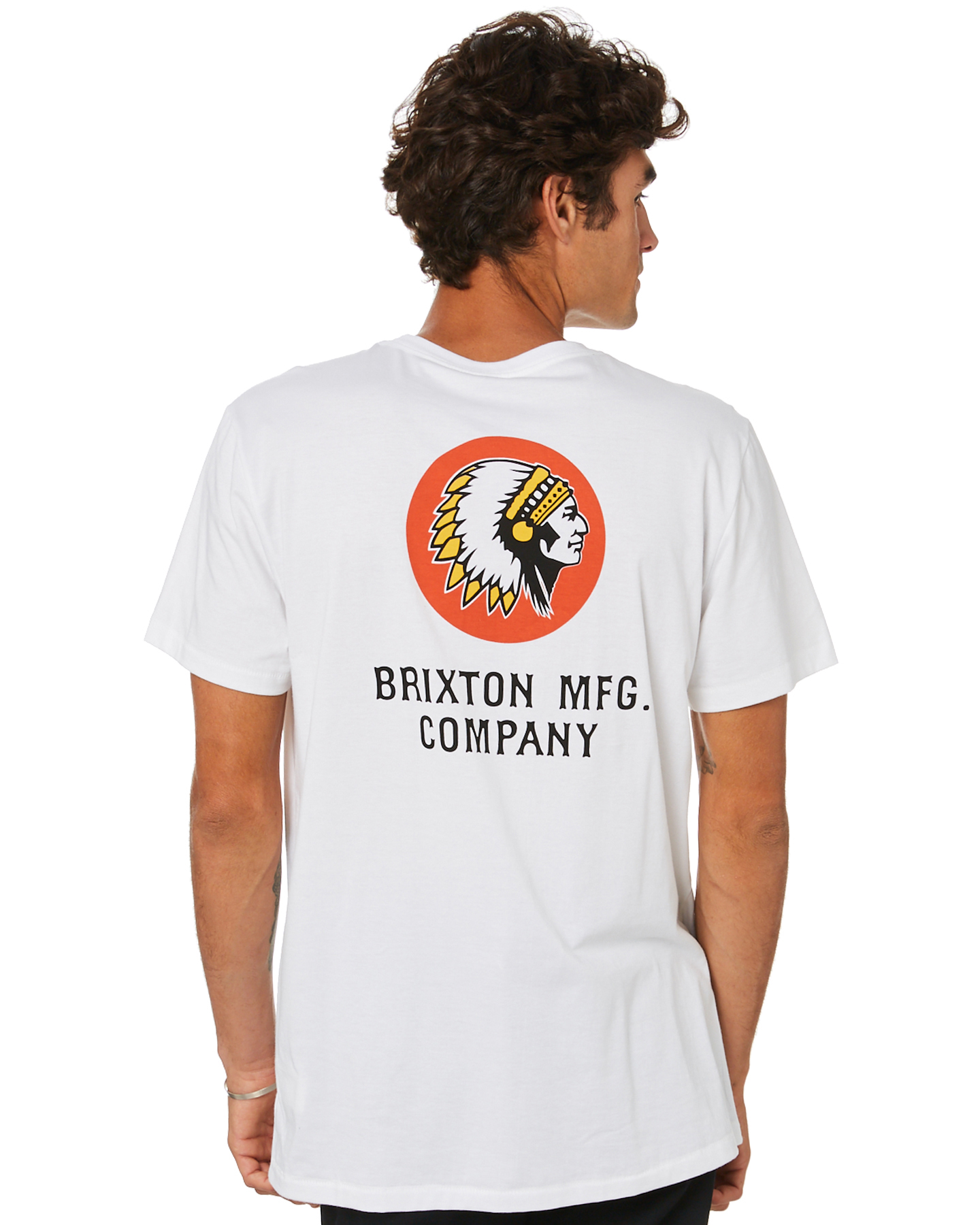 Brixton Rival Line Mens Ss Tee White