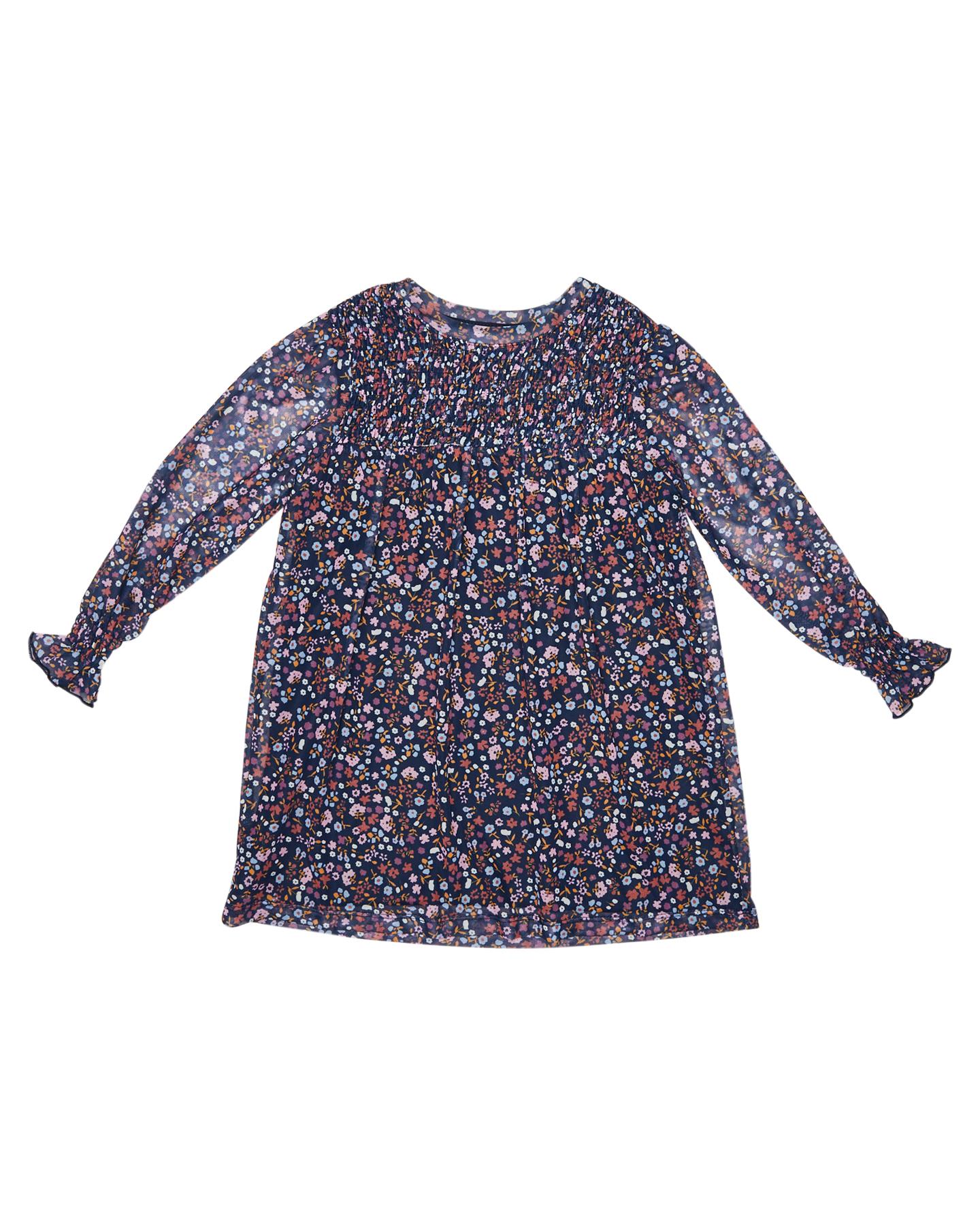 Eves Sister Girls Blossom Mesh Dress - Kids Print