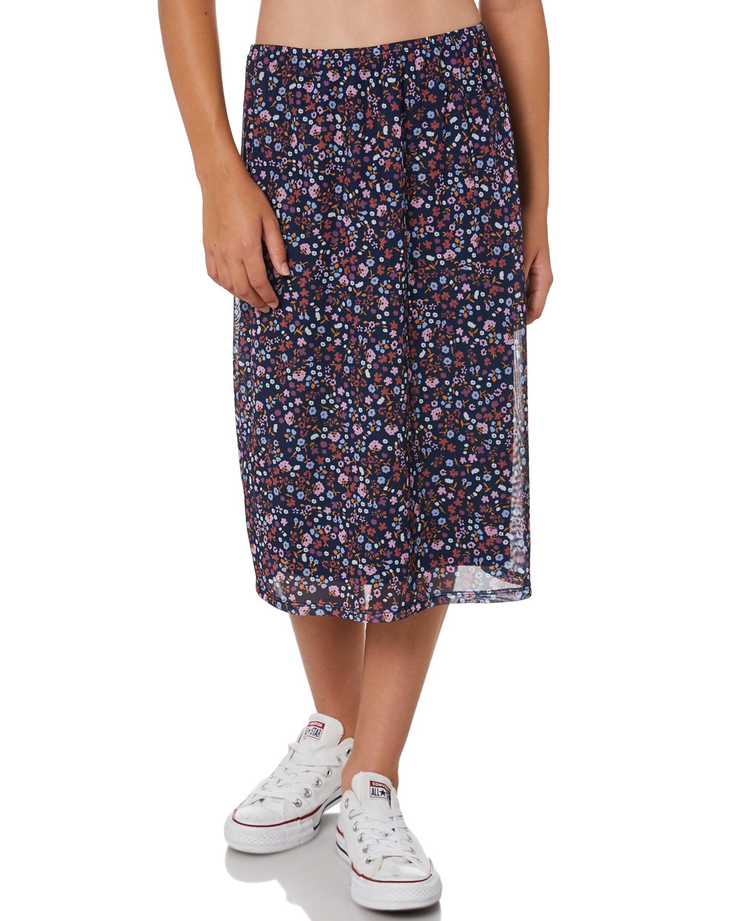 Eves Sister Girls Blossom Mesh Skirt - Teen Print