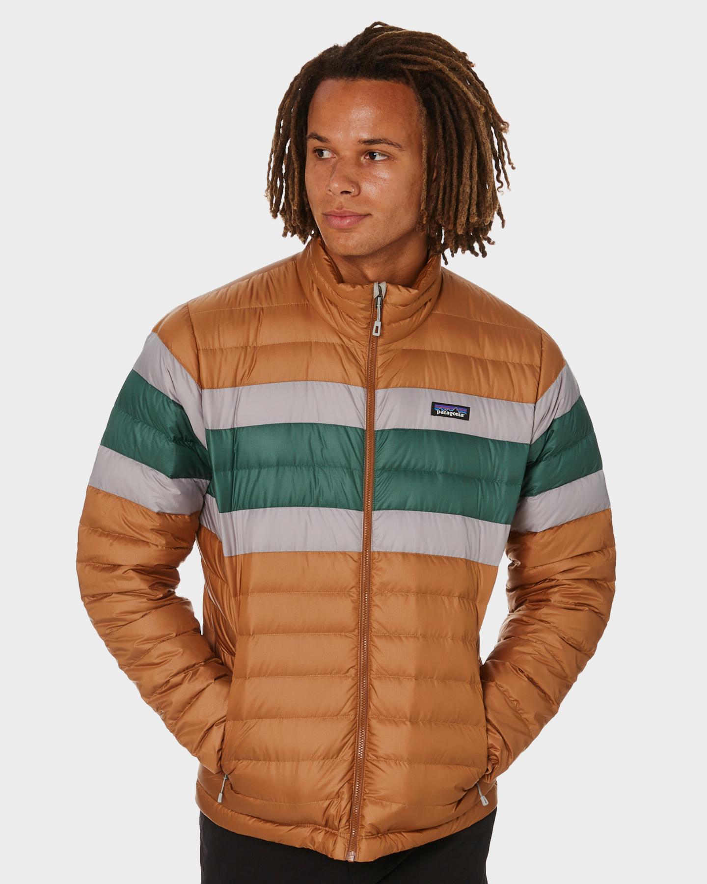 Patagonia Down Mens Sweater Beech Brown